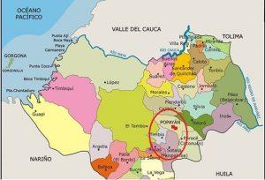 Mapa del Cauca